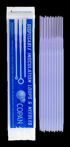 Plastic Inoculating Loops, Needles & Spreaders 176CS20 Plastic Inoculation Needle - 20 per Peel Pouch