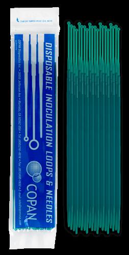 Plastic Inoculating Loops, Needles & Spreaders 8175CS20H 1 µL Rigid Dark Green Plastic Inoculation Loop - 20 per Peel Pouch