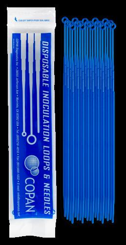Plastic Inoculating Loops, Needles & Spreaders 8177CS20H 10 µL Rigid Dark Blue Plastic Inoculation Loop - 20 per Peel Pouch