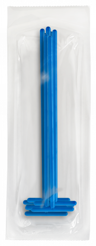 Plastic Inoculating Loops, Needles & Spreaders COPTS-10 T Shaped Dark Blue Plastic Spreader - 10 per Peel Pouch