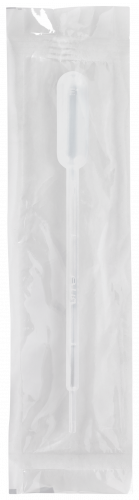 150mm Disposable Transfer Pipet Graduated up to 1 mL at 0.25 mL Intervals with 3.5 mL Bulb Draw and 23 drops/mL - Individually Wrapped, Sterile