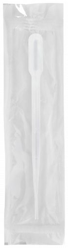 155mm Disposable Transfer Pipet for Blood Bank Graduated Up to 2 mL at 0.5 mL Intervals with 2.4 mL Bulb Draw and 22 drops/mL - Individually Wrapped, Sterile