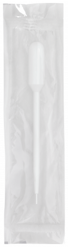 144mm Disposable Transfer Pipet w/ Fine Tip - Non-Graduated with 3.5 mL Bulb Draw and 65 drops/mL - Individually Wrapped, Sterile