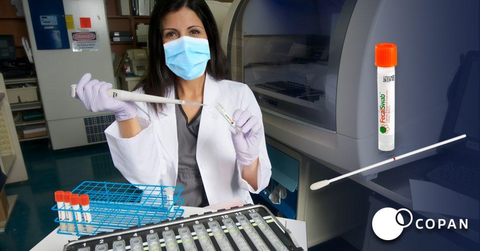 Lab Assistant Using FecalSwab