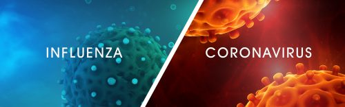 Microscopic view of a infectious virus. Contagion and propagation of a disease. Corona COVID-19. Sars. Flu. 3D Rendering